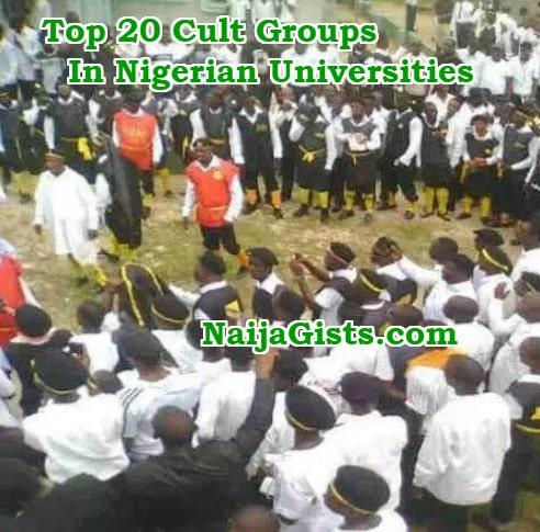 Top 20 Cult Groups In Nigerian Universities: Symbols, Coded