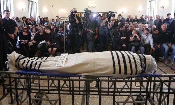 Yechiel Eckstein funeral corpse