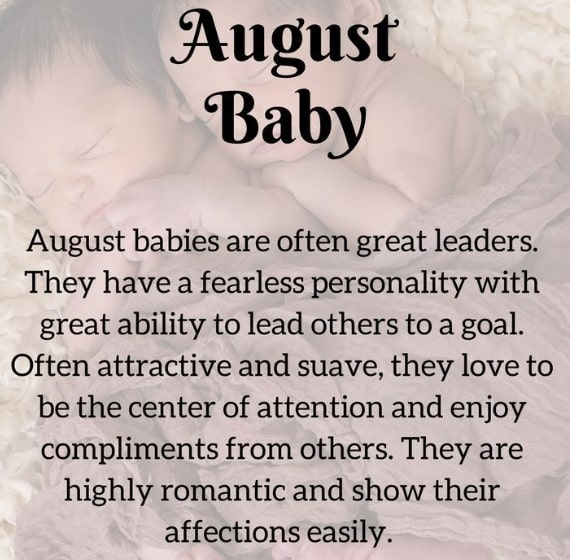 august baby personality traits
