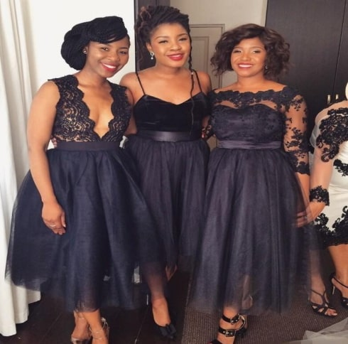 black dress nigerian wedding