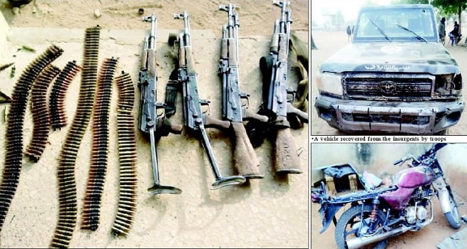 boko haram kills 3 soldiers borno military base attack