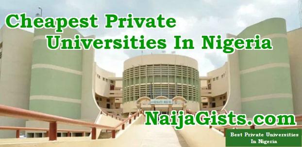 cheapest private universities nigeria