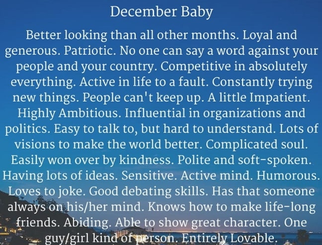 december born baby facts