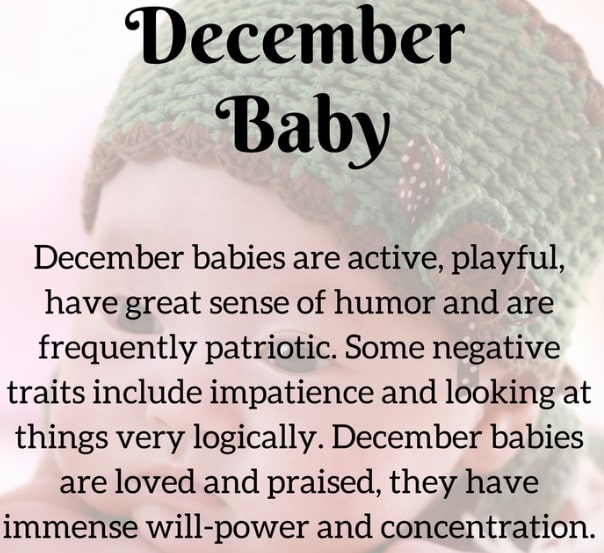 december born baby personality traits
