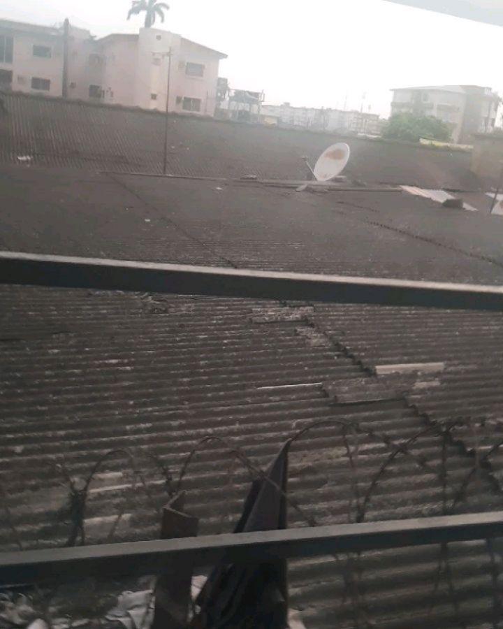 demon captured live in sky lagos nigeria