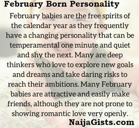 february born personality love life