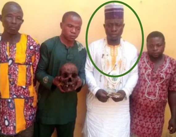 islamic cleric buys human head skull ritual