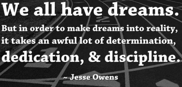 jesse owens dedication quotes