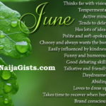 june born love life personality traits