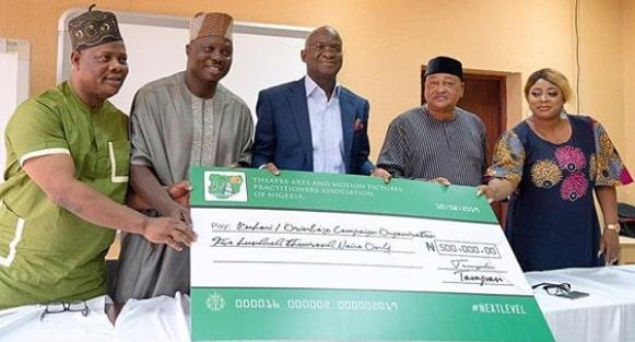 nollywood donates buhari