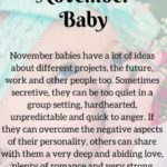 November Born Baby Facts: Personality, Love Life, Positive Attitude & Negative Traits