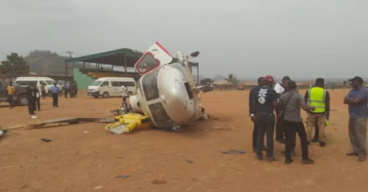osinbajo injured chopper crash kogi