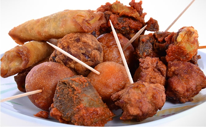 small chops nigerian wedding food