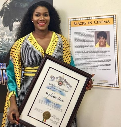 stephanie okereke recognition award LA