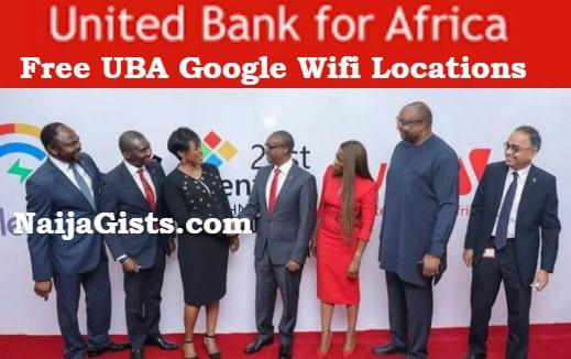 uba google free wifi hotspots locations