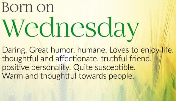 wednesday born personality traits