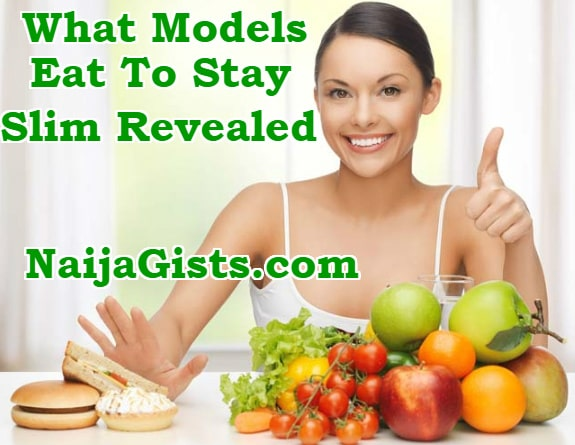 what do models eat to stay in shape