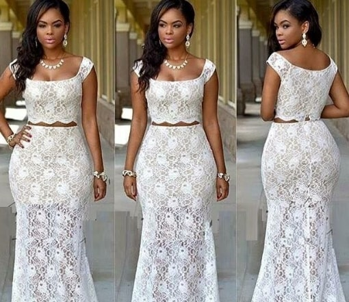 white dress nigerian wedding