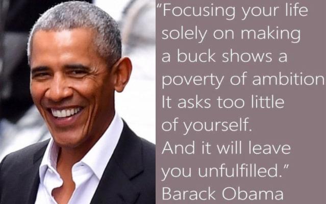 barack obama quotes making money