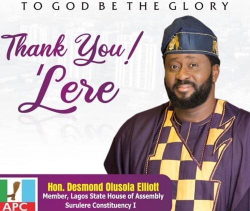 desmond elliot reelected