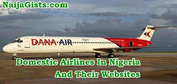 domestic airlines in nigeria websites