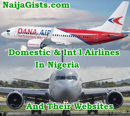 domestic intl airlines nigeria websites