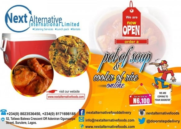 food delivery service surulere lagos