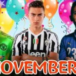 Famous Footballers Born In November And Their Date Of Birth (Soccer Players With Birthdays In November)