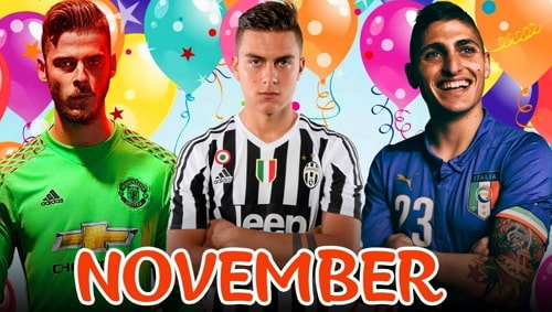 footballers born in november