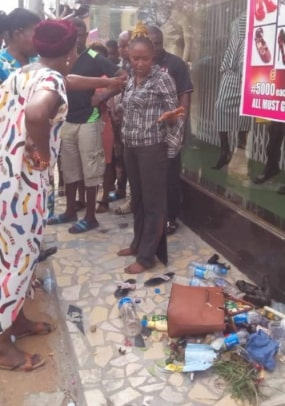 lady runs mad ikeja lagos today