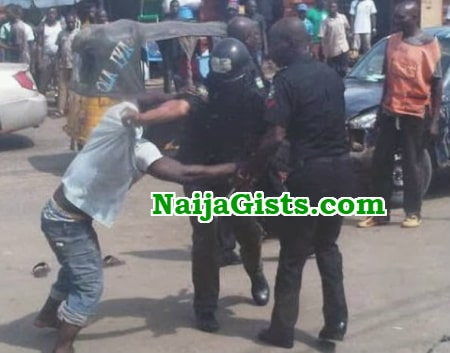 lagos police inspector kill okada man