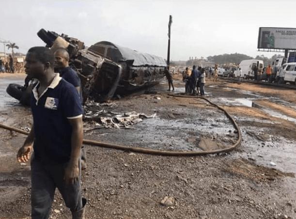 2 burnt to death tanker fire ibadan