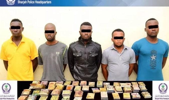 5 nigerians arrested robbery sharjah dubai