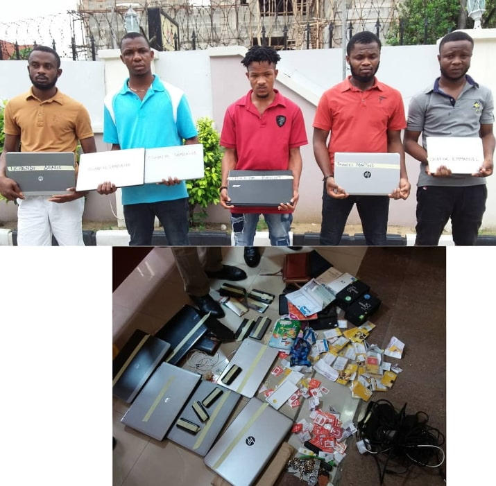 5 yahoo boys caught uyo akwa ibom