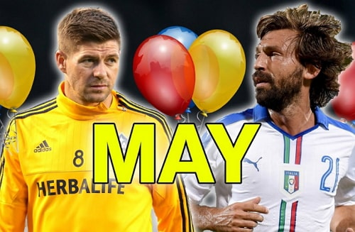 Footballers Birthdays In May