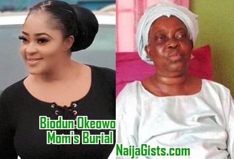 biodun okeowo mother burial