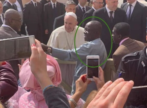 chief tony chukwu meets pope francis