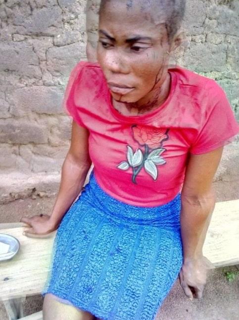lady beaten in church mini skirt