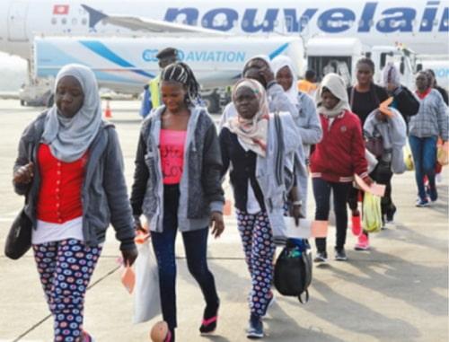 libya returnees arrive lagos