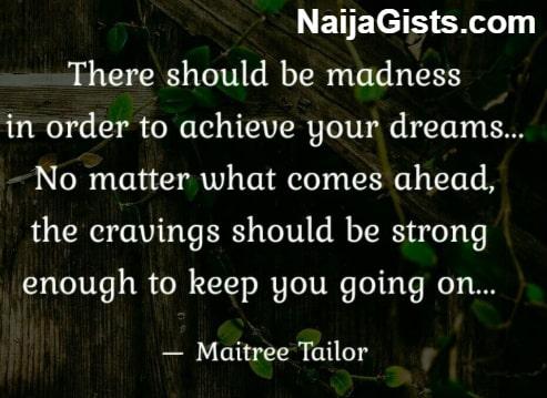 madness achieve dreams goals