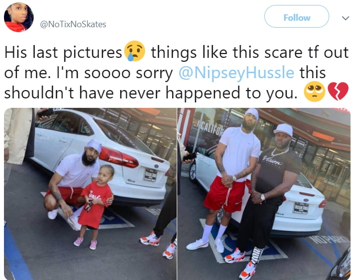 nipsey hussle last pictures