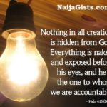 Nothing Is Hidden From The Eyes Of The Almighty God