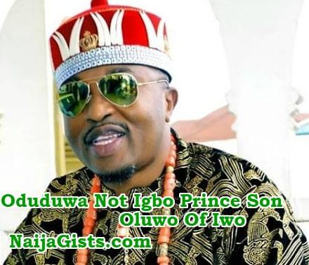 oduduwa son igbo prince