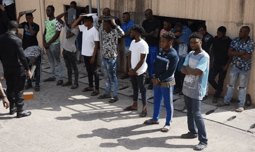 10 yahoo boys arrested efcc abuja photos