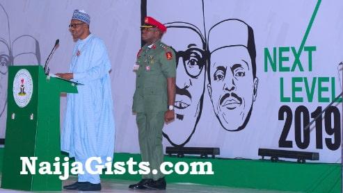 buhari next level slogan