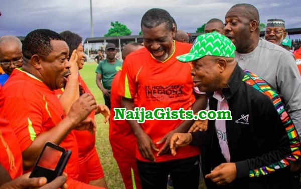 nollywood stars owerri governor ihedioha