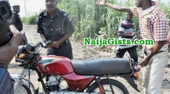 police inspector steal bajaj motorcycle