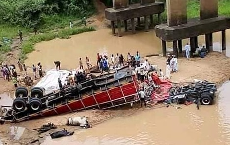 trailer falls bridge kaduna photos