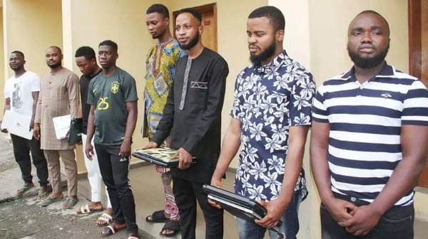 yahoo boys arrested efcc lagos today