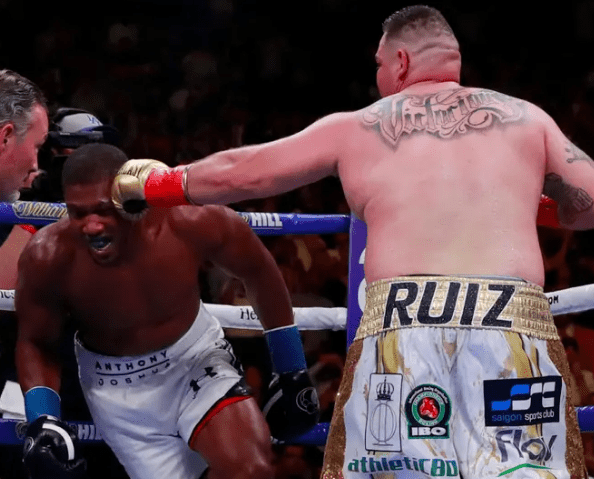 anthony joshua gassed weakened new york